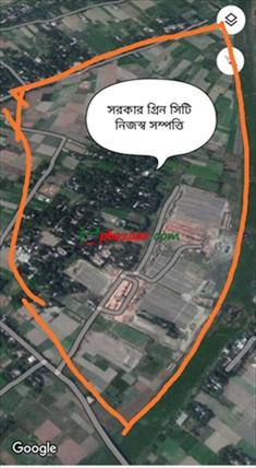 """কেরানীগঞ্জ জেলখানার পিছনে ১১০ ফিট রোড সংলগ্ন """"সরকার গ্রিন সিটি"""" প্রকল্পে ৩/৫/১০ প্লট সহজ কিস্তি সুবিধায় বুকিং চলছে।  এর ছবি"""