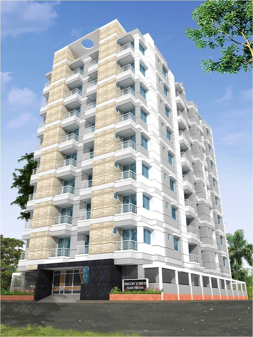 825 sq ft 2 Bedroom Apartment for Sale in ANGON TOWER (Santi Nibas), Mirpur 13. এর ছবি