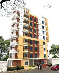 1050 Sq-ft Apartment For Sale Rahmaniya Garden in Uttara এর ছবি